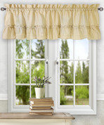 Stacey kitchen curtain valance - Almond