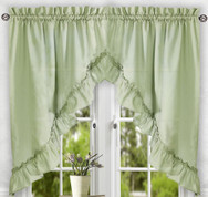 Stacey kitchen curtain swag - Sage Green