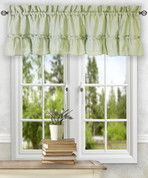 Stacey kitchen curtain valance - Sage Green