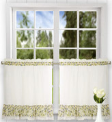 "Clarice 24"" kitchen curtain tier - Blue"