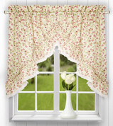 Clarice kitchen curtain swag - Red