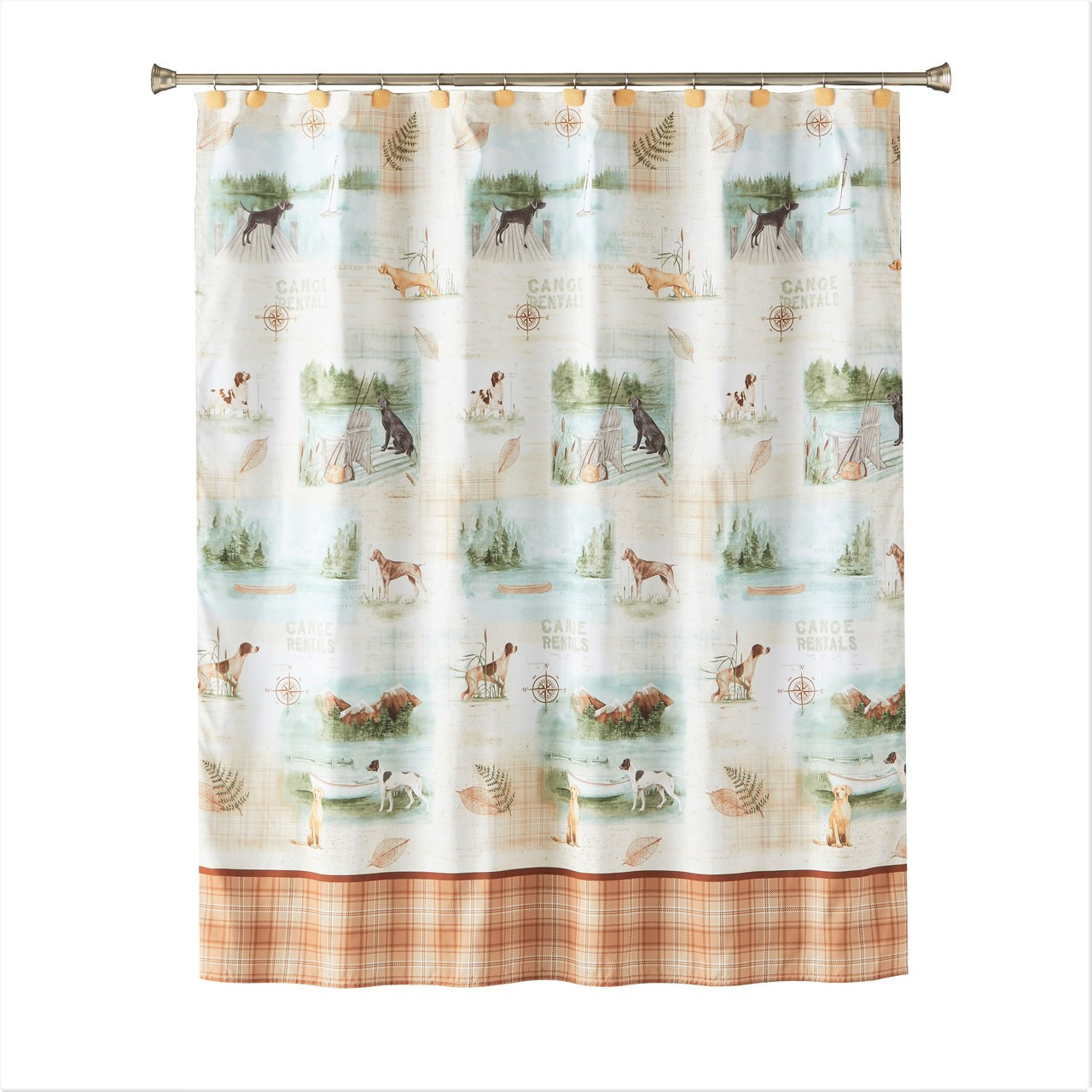 Adirondack Dogs Shower Curtain From Saturday Knight