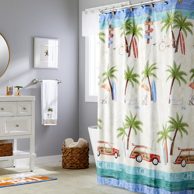 Paradise Beach Shower Curtain & Bathroom Accessories from Saturday Knight