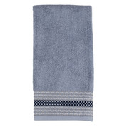 Cubes Hand Towel in Grey from Saturday Knight