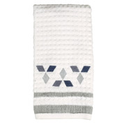 Cubes Hand Towel in white from Saturday Knight