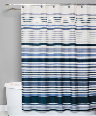 Cubes Stripes Shower Curtain from Saturday Knight