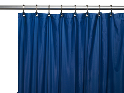 Clean Home PEVA Shower Curtain - Navy