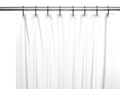 Clean Home PEVA Shower Curtain - White