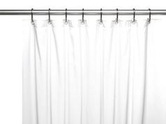 Clean Home PEVA Shower Curtain - White