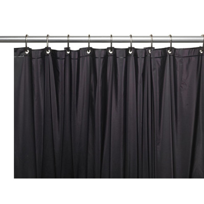Clean Home PEVA Shower Curtain - Black (SCEVA -10/16)