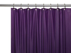 Clean Home PEVA Shower Curtain - Purple (SCEVA -10/33)