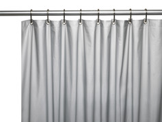 Clean Home PEVA Shower Curtain - Silver (SCEVA -10/03)