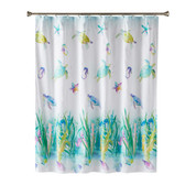 Watercolor Ocean shower curtain from SaturdAY kNIGHT