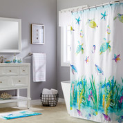 Watercolor Ocean Shower Curtain & Bathroom Accessories from Saturday Knight