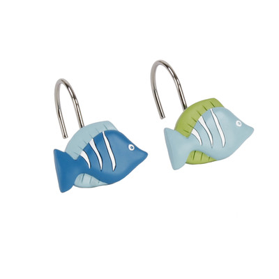 Atlantis Shower Curtain Hooks from Saturday Knight
