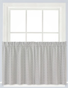 "Hopscotch 24"" kitchen curtain tier - Gray"