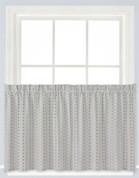 "Hopscotch 36"" kitchen curtain - Gray"