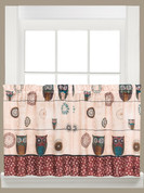 "Spice Owls 24"" kitchen curtain"