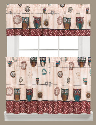 Spice Owls Kitchen Curtain from Saturday Knight