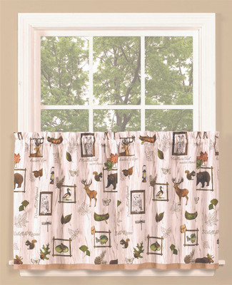 "Forest Glen 36"" kitchen curtain from Saturday Knight"