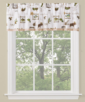 Forest Glen kitchen curtain valance from Saturday Knight