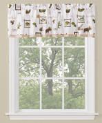 Forest Glen Kitchen Curtain valance from Saturday Knight