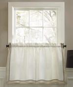 """Stratford 24"""" kitchen curtain tier - Natural"""