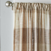 Aiden Plaid Rod Pocket Curtain Panel from Saturday Knight