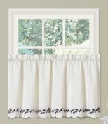 "Alpine Pinecone 24"" kitchen curtain tier from Lorraine Home Fashions"