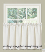 "Alpine Pinecone 36"" kitchen curtain tier from Lorraine Home Fashions"
