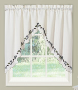 Alpine Pinecone kitchen curtain swag pair from Lorraine Home Fashions