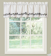 Alpine Pinecone kitchen curtain valance from Lorraine Home Fashions