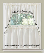 Alpine Pinecones Embroidered Kitchen Curtain from Lorraine Home Fashions