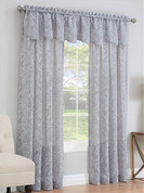 Willow Rod Pocket Curtain Panel shown hung under the matching valance (picture shows 2 panels + 2 valances)