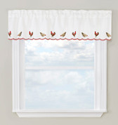 Roosters kitchen curtain valance