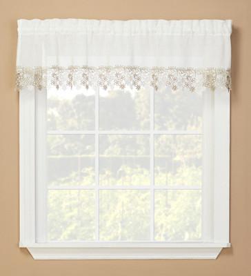 Lillian Macrame kitchen curtain valance