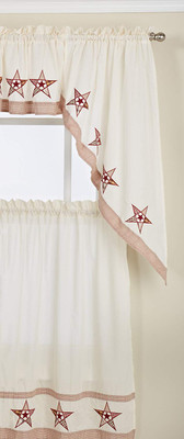 Country Stars Kitchen Curtains from Lorraine Home Fashions