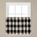 Grandin Check Kitchen Curtain Tier - Black from Saturday Knight
