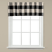 Grandin Check Kitchen Curtain Valance - Black from Saturday Knight