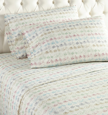 Micro Flannel Sheet Set - Bicycles from Shavel