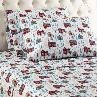Shavel Micro Flannel Sheet Set - Cabins