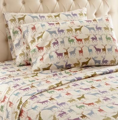 Shavel Micro Flannel Sheet Set - Colorful Deer