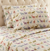 Shavel Micro Flannel Sheet Set - Colorful Deer