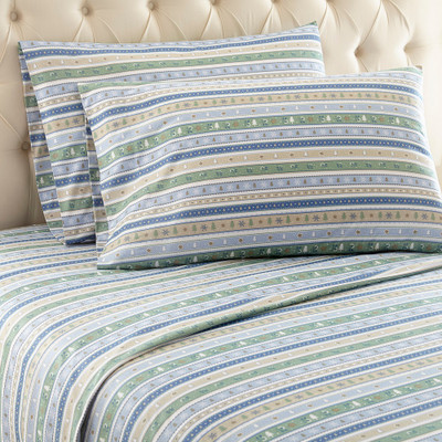 Shavel Micro Flannel Sheet Set - Calico Stripe