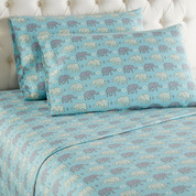 Micro Flannel Sheet Set - Elephants