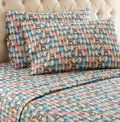Micro Flannel Sheet Set - Kool Kats