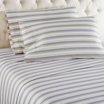 Shavel Micro Flannel Sheet Set - Metro Stripe