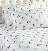 Micro Flannel Sheet Set - Snowman
