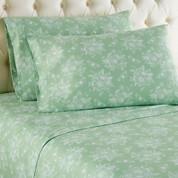 Micro Flannel Sheet Set - Toile Celadon Green