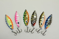 RJ Lures Shimmy Spoon 6 pack
